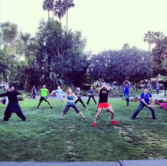 A little exercise gets the blood flowing and jumpstarts the brain. Here, attendees let it all out in a super-fun Brazilian butt lift class during one of the breaks.