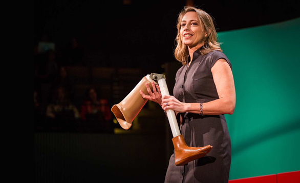 Krista Donaldson showed her company's $80 prosthetic knee at TEDWomen in December. This week, their work was featured in The New York Times. Photo: Marla Aufmuth