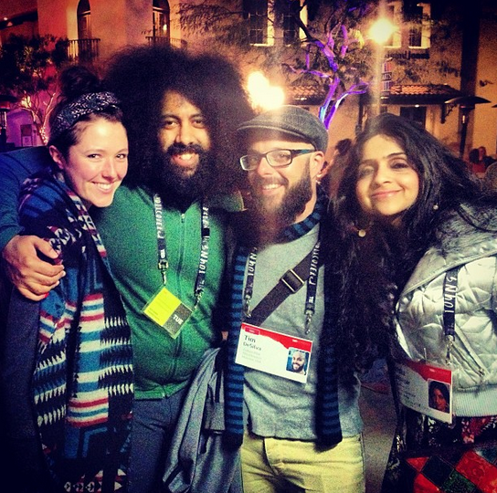 Comedian and TED speaker Reggie Watts performed at the closing party, which resulted in this epic TEDActive family photo.