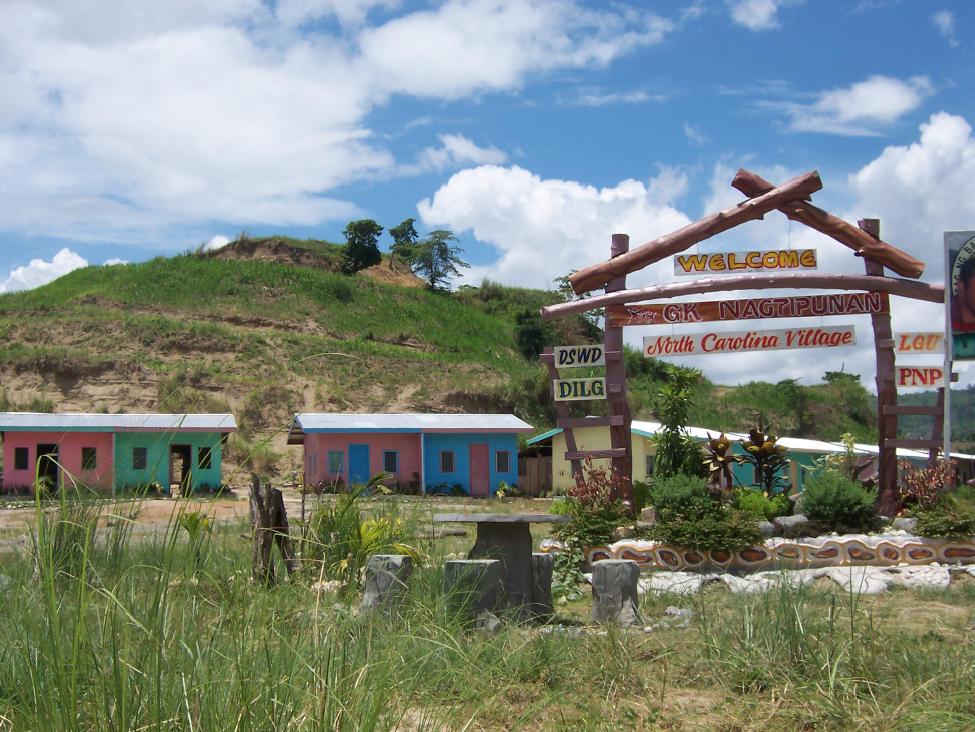 A village built by Gawad Kalinga, funded by Francis de los Reyes' North Carolina chapter of the organization.
