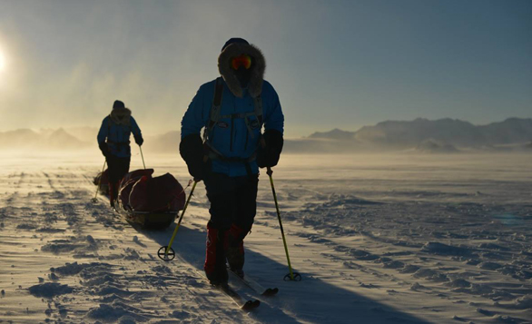 Ben Saunders in the final week of his 1,795 mile Antarctica trek. The journey didn't go as planned, but is now over. Image: The Scott Expedition/Facebook