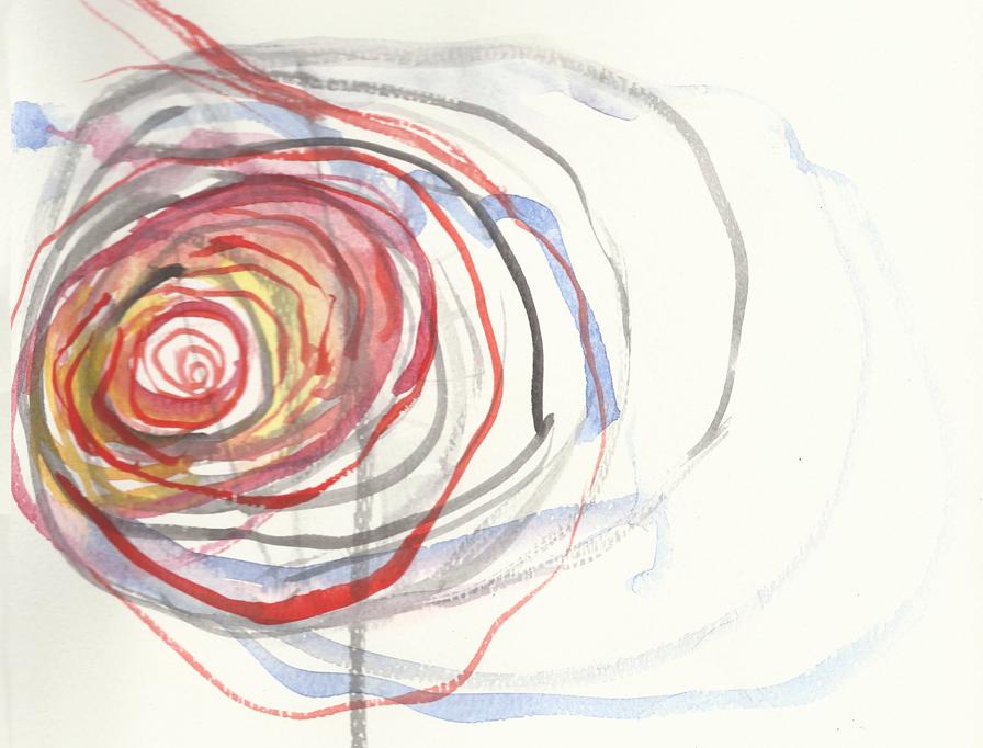 Janet Echelman, watercolor sketch
