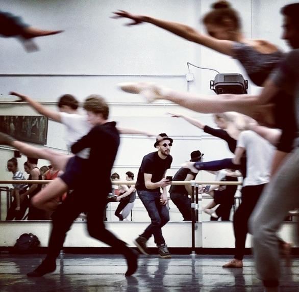 JR tries his hand at choreography. Photo: JR via Instagram