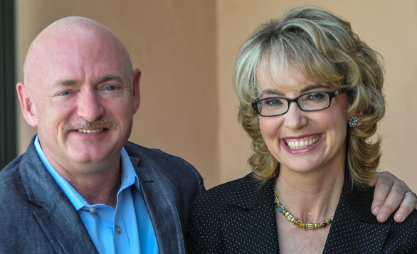 Speaking on the last day of TED2014: Gabrielle Giffords and Mark Kelly.