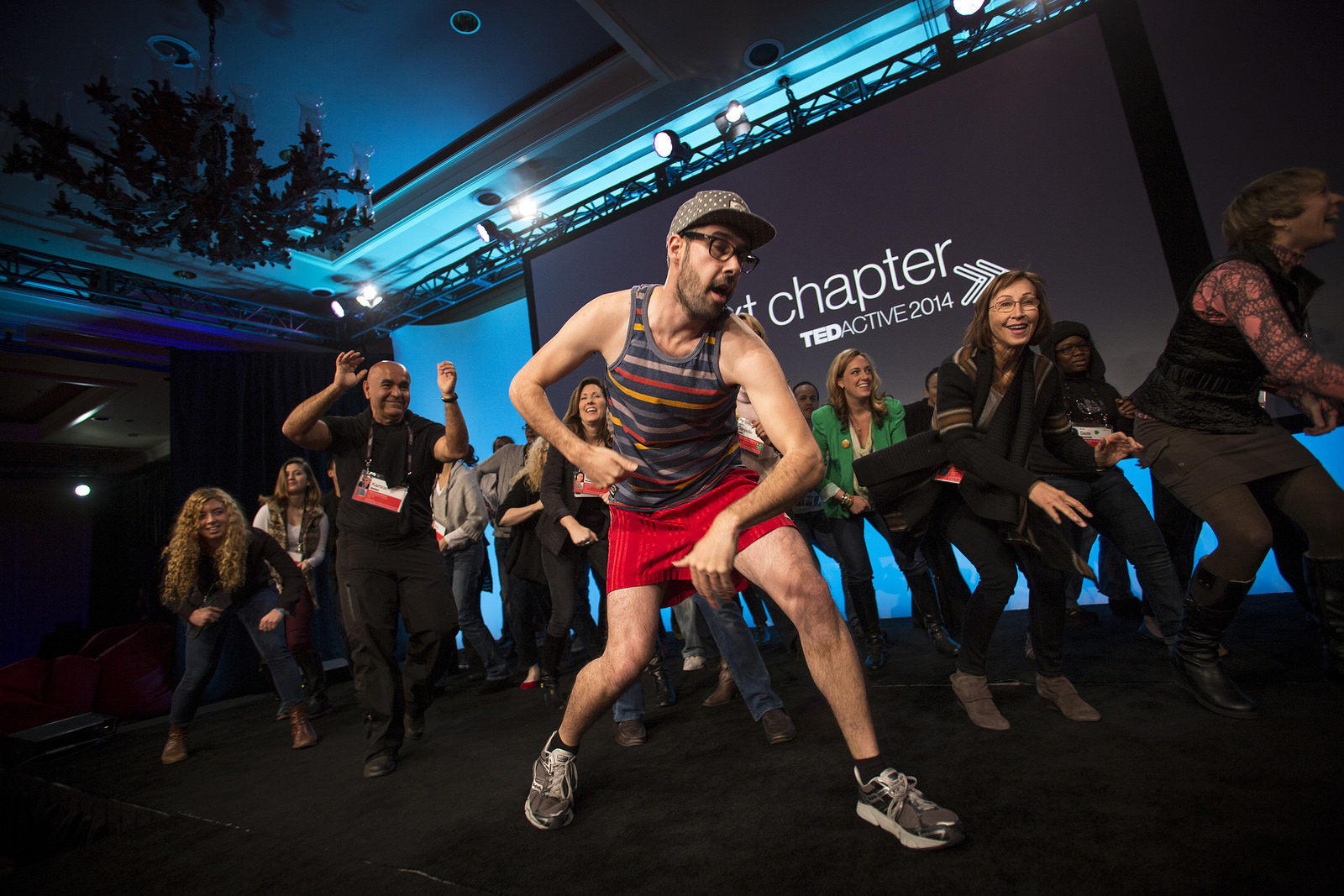Dance time at TEDActive 2014. Photo: Marla Aufmuth