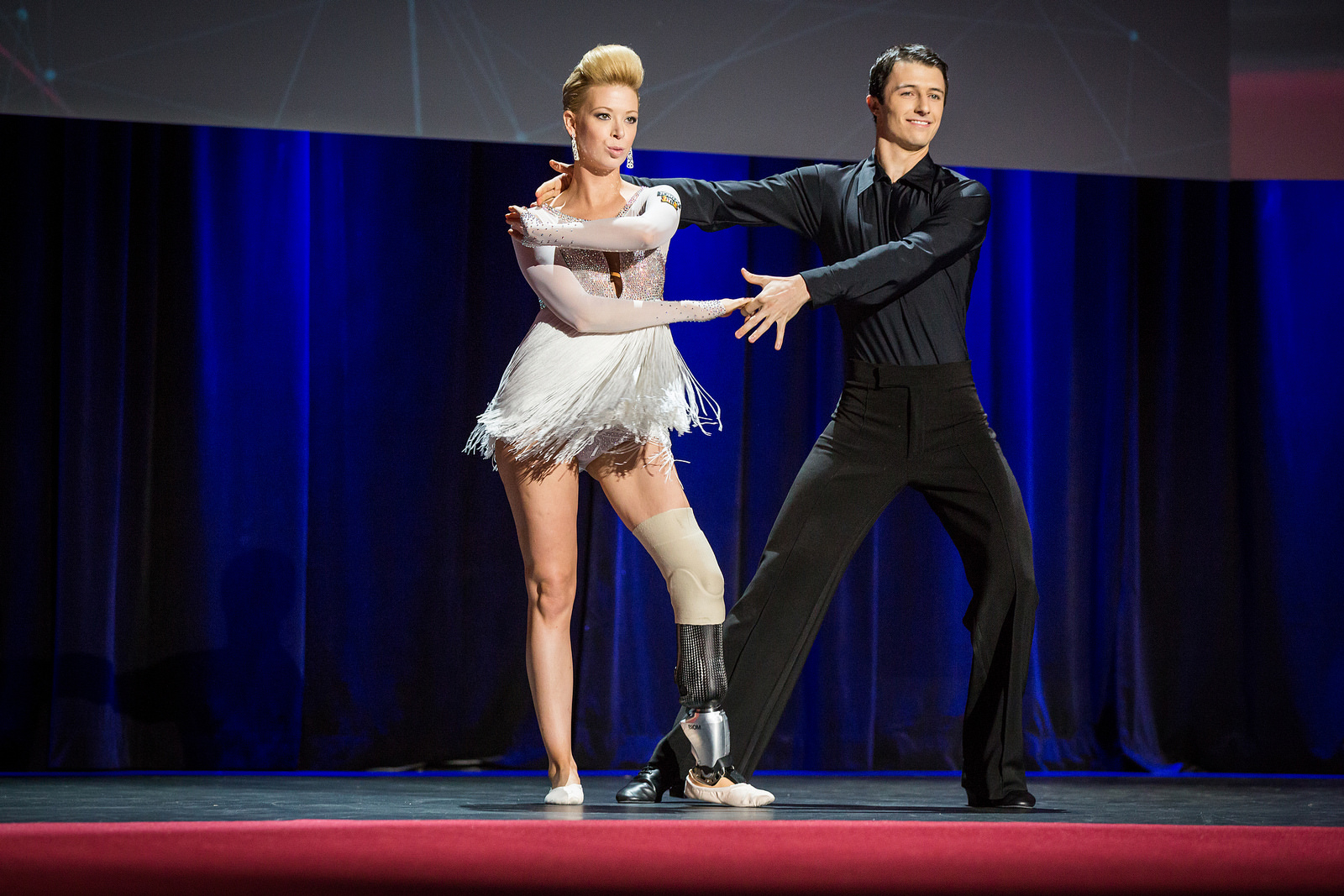 Dancer Adrianne Haslet-Davis lost her left leg in the Boston Marathon bombing. Today, she danced for the first time since thanks to an ultra high-tech prosthetic created by Hugh Herr's lab at MIT. Photo: James Duncan Davidson