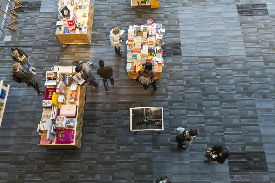 A shot of the TED bookstore. Photo: Ryan Lash