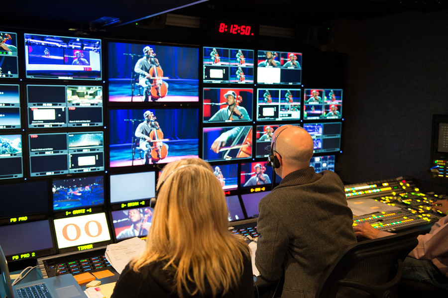 A look at the TED control room, where video is captured from the theater. Photo: James Duncan Davidson