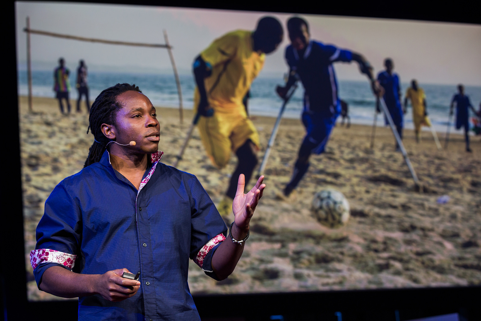 Speaking of Hugh Herr's team at the MIT Media Lab, David Sengeh works there. And is dedicated to offering good options to amputees in his home country of Sierra Leone. Photo: Ryan Lash