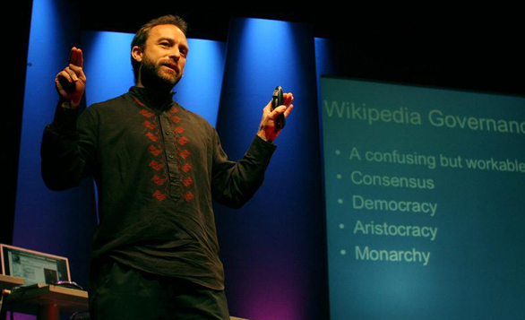 Jimmy Wales speaks in 2005 about the birth of Wikipedia.