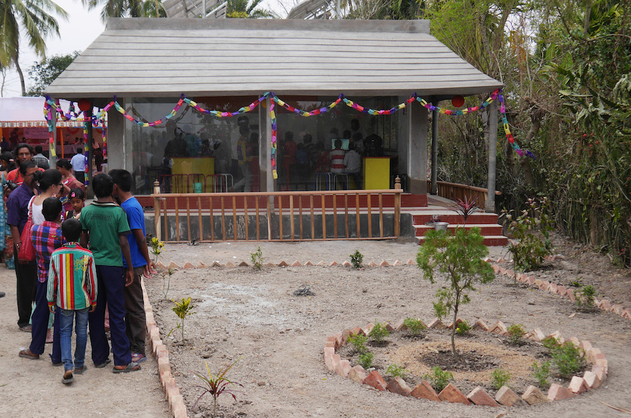 The School in the Cloud in Korakati, India, is the first constructed from the ground up.