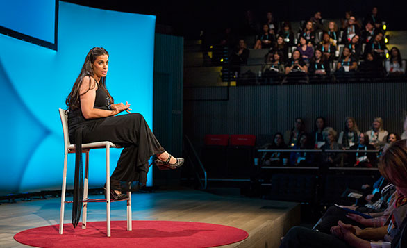 Maysoon Zayid cracked up the audience at TEDWomen. So as we approached our 30th anniversary, we asked her to reflect on how this year is different than 1984. Photo: