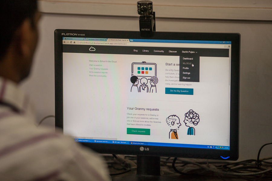 A closer look at the School in the Cloud web platform.