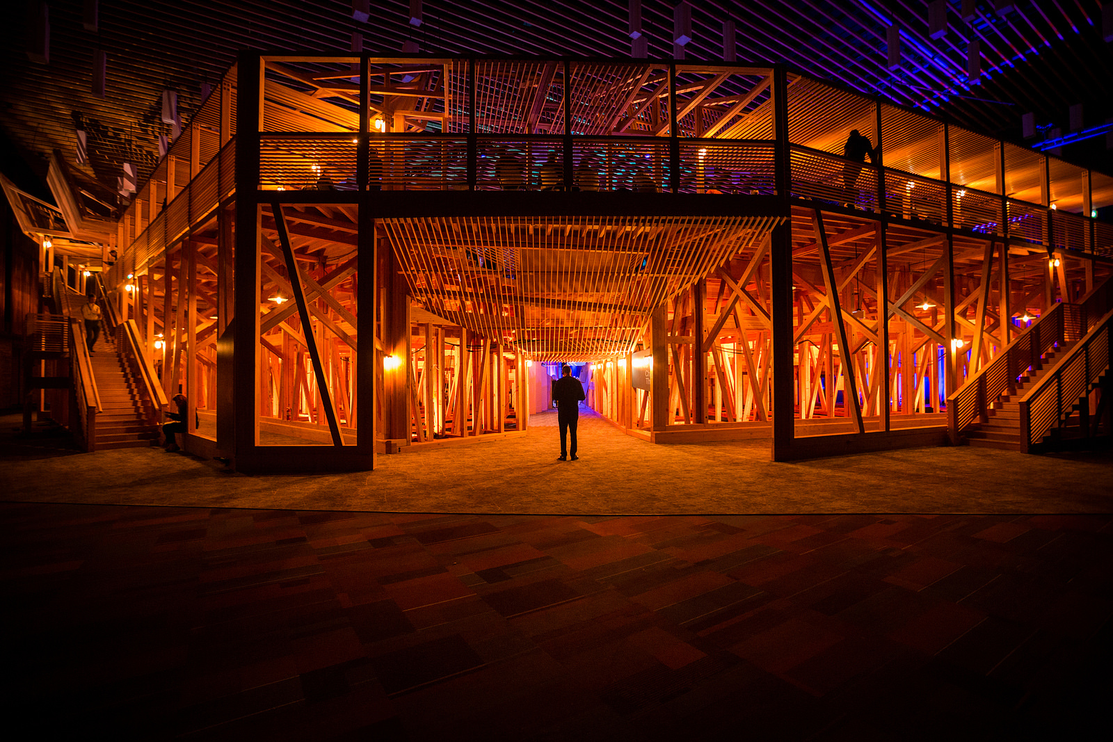 The underbelly of the TED2014 pop-up theater. Photo: Ryan Lash