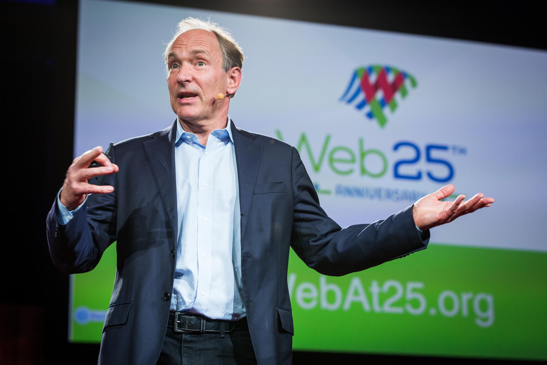 Sir Tim Berners-Lee. Photo: Bret Hartman