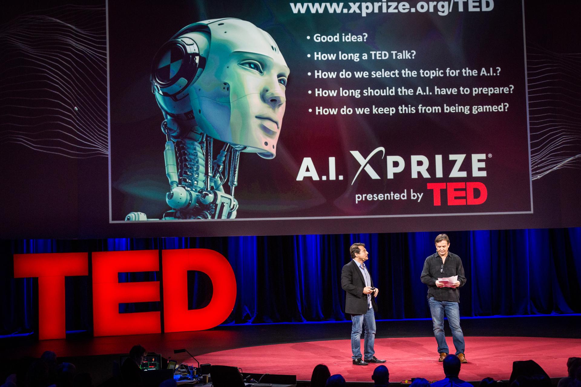 (L-R) Peter Diamandis and Chris Anderson. Photo: Ryan Lash