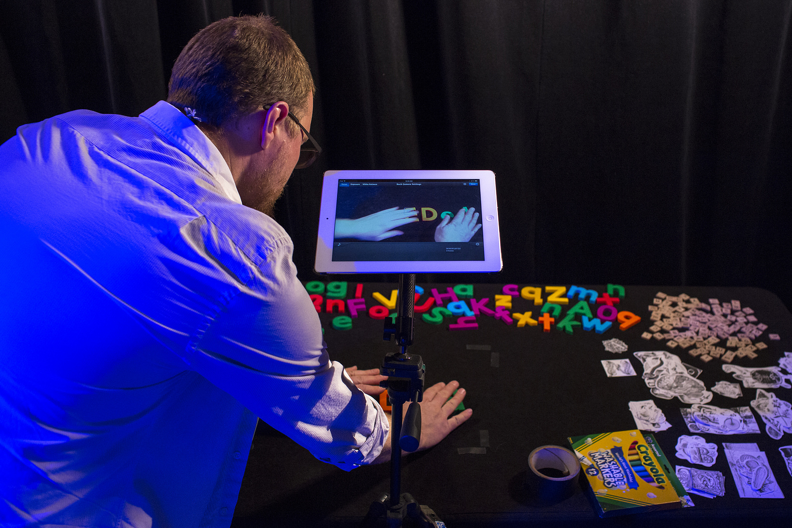 An animation station, courtesy of TED-Ed, in Whistler. Photo: Sarah Nickerson