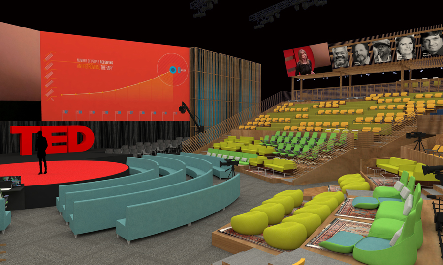 And a view closer to the stage. Courtesy: The Rockwell Group