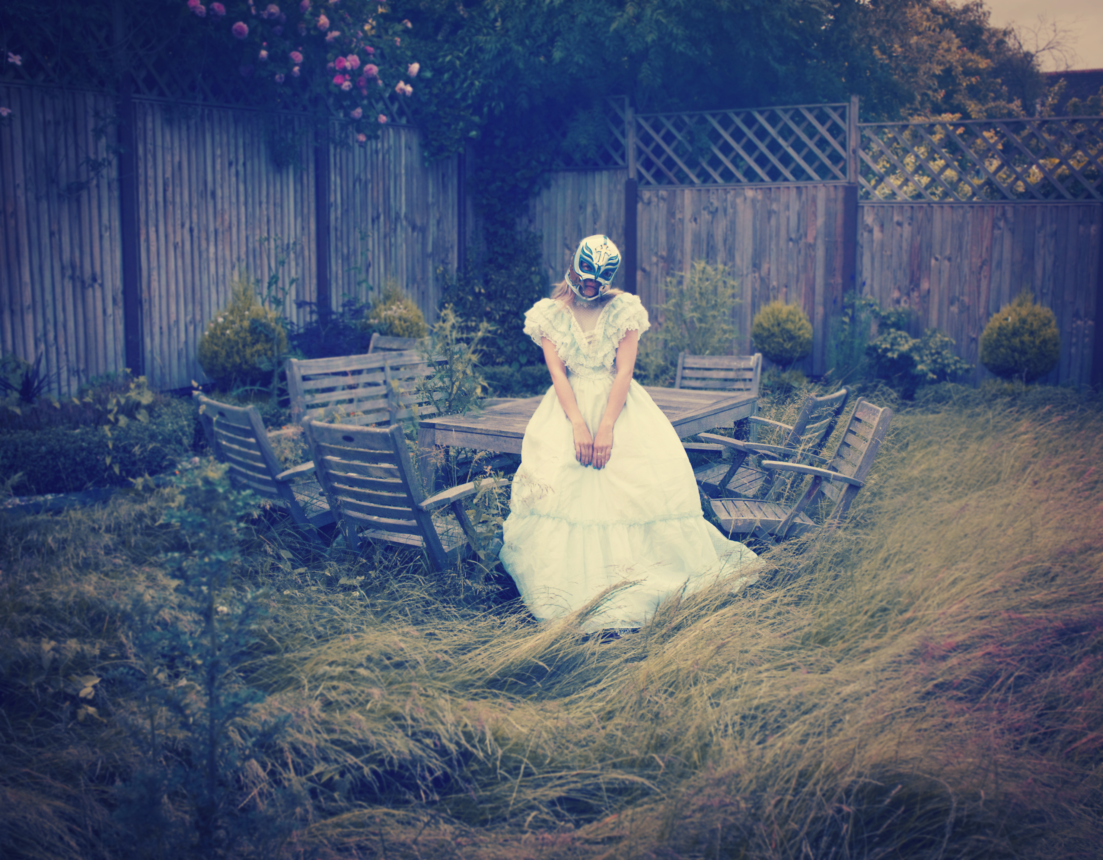 Sadness Never Loneliness: a self-portrait of the artist as a desperate bride, addressing the cultural expectation that every young woman desires marriage. Image: Uldus Bakhtiozina