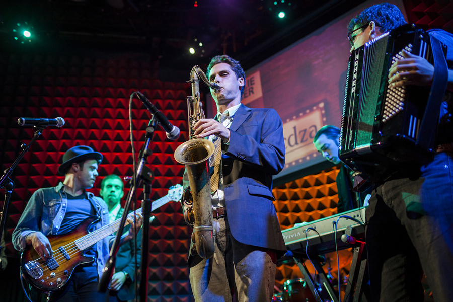 CDZA takes the audience on a time machine trip through musical history at TED@NYC in 2013. Photo: Ryan Lash