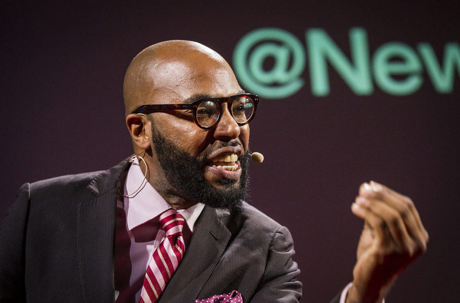 Christopher Emdin shares what teachers can learn from hip hop artists at TED@NYC in 2013. Photo: Ryan Lash