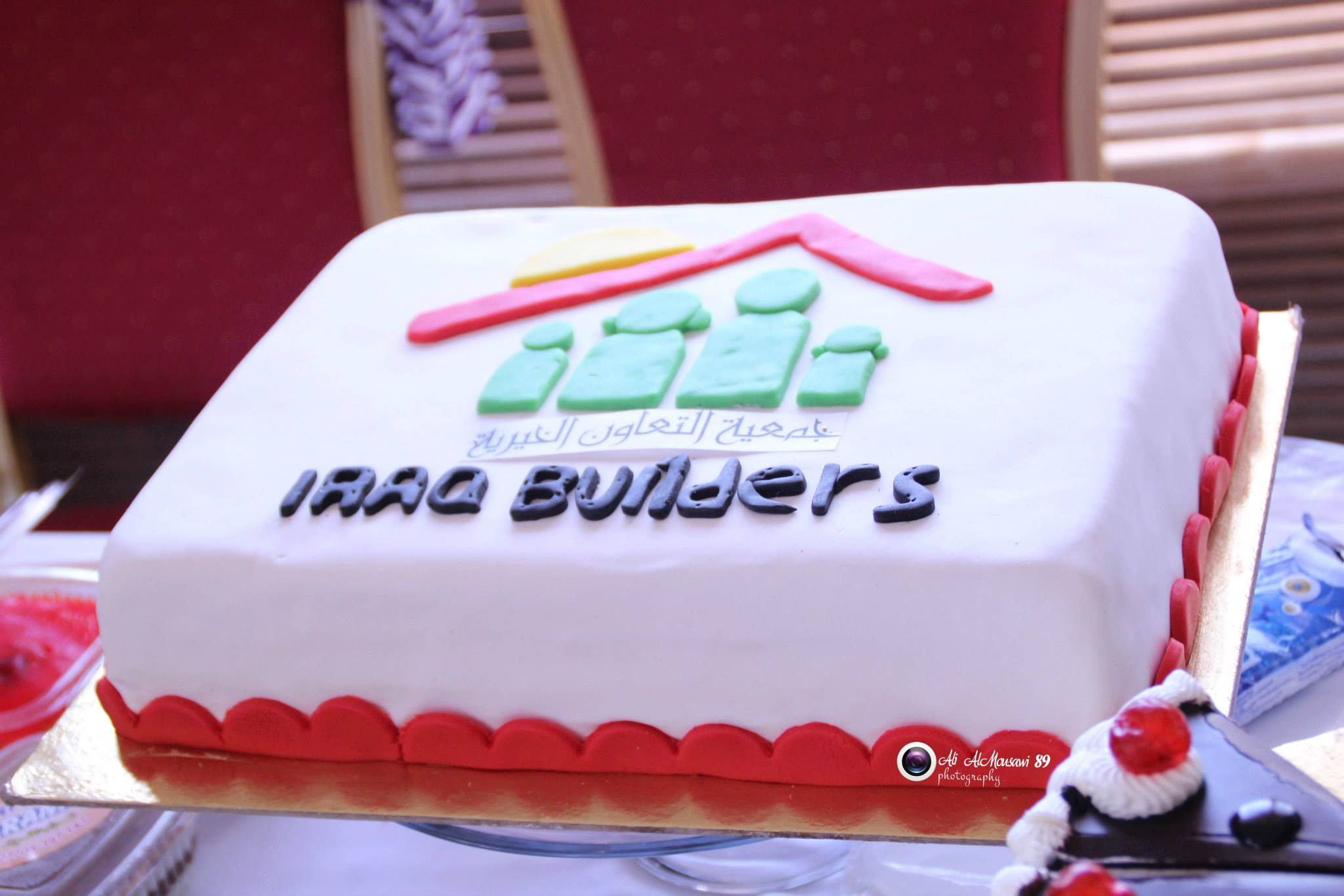 A cake to celebrate a year of Iraq Builders. Photo: Courtesy of Iraq Builders