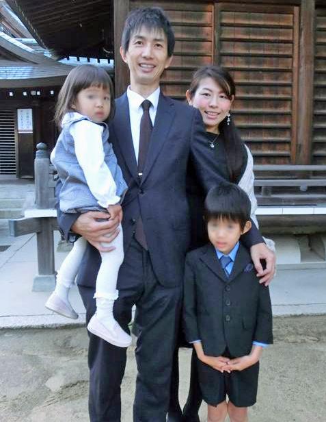 Hideo and Ai Tokimatsu with their children, now. Photo: Ai Tokimatsu