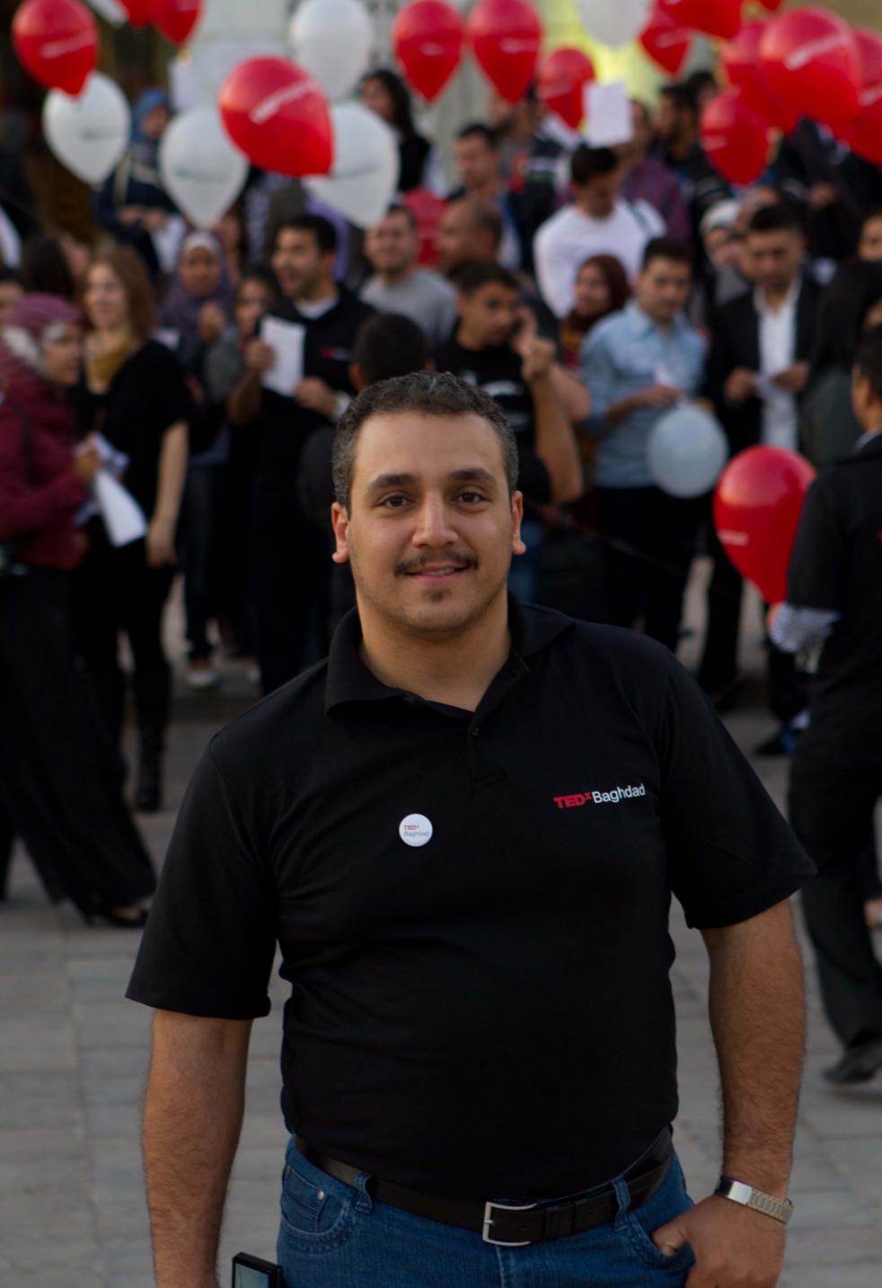 Elaf Mohammed at TEDxBaghdad. Photo: Courtesy of TEDxBaghdad