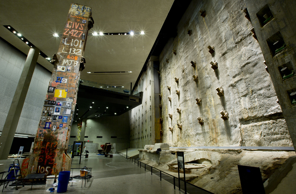 A look at the Slurry Wall inside the National 9/11 Memorial Museum. Here, lead exhibition designer Tom Hennes reflects on it opening to the public. Photo: Jin Lee