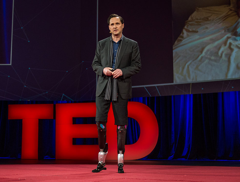 Hugh Herr's talk transfixed the audience at TED2014, and has now been viewed nearly 2 million times. So it might surprise some to know that his talk took nearly 7 years to happen. Photo: James Duncan Davidson