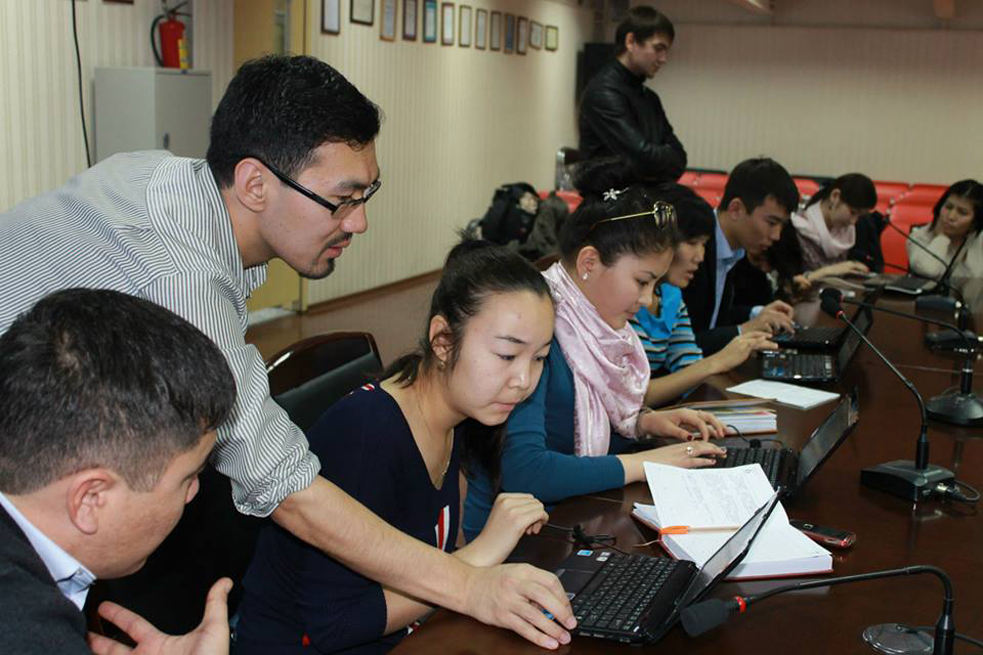 Asqat Yerkimbay trains local journalists in how to get involved in global conversations. He also uses the TED Open Translation Project to revive his language, Kazakh. Photo: Courtesy of Asqat Yerkimbay