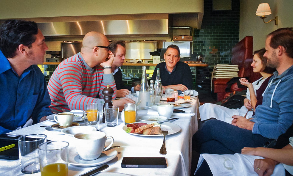 Me with a group of organizers, discussing the TEDx program over brunch. Photo: