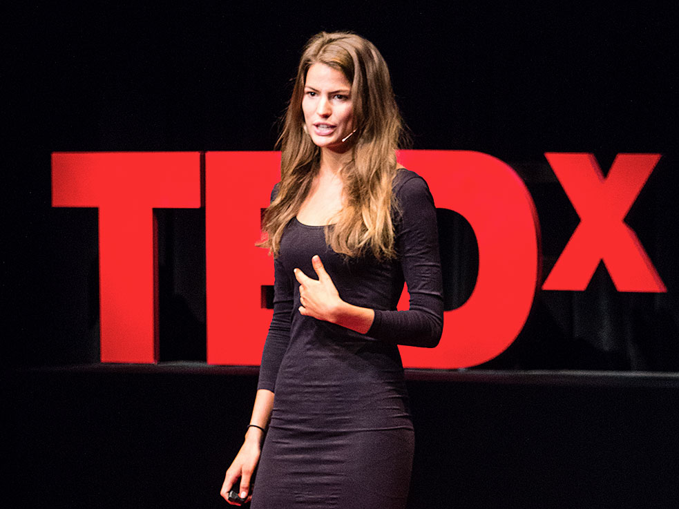 "Cameron Russell shot down the idea that it's ""hard"" to be a model at TEDxMidAtlantic. Her talk quickly went viral. Photo: Courtesy of TEDxMidAtlantic"