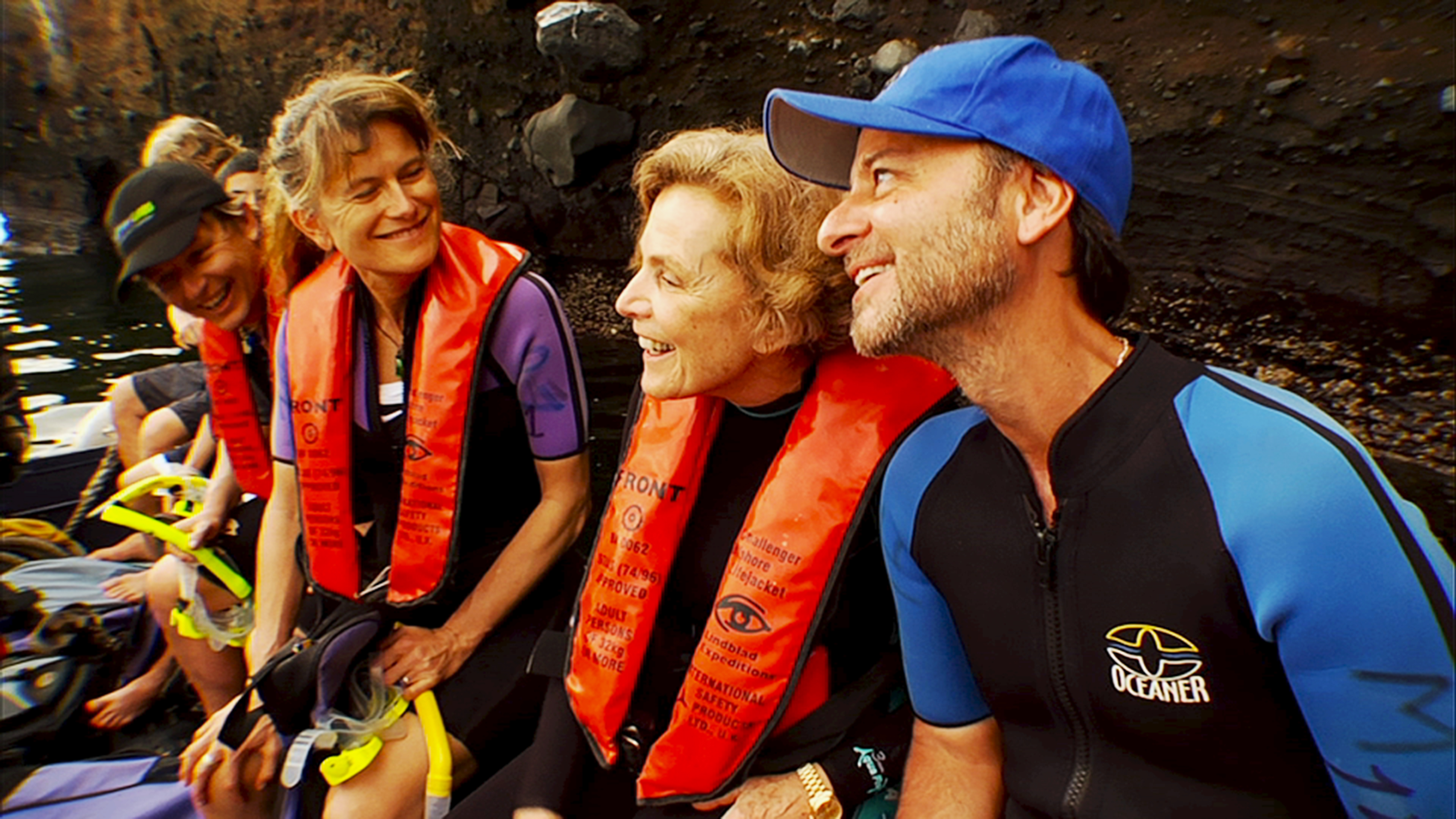 Sylvia Earle, with Mission Blue directors Robert Nixon (left) and Fisher Stevens (right). Photo: Mission Blue