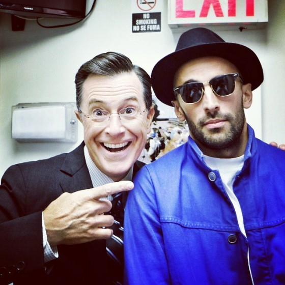 JR with Stephen Colbert