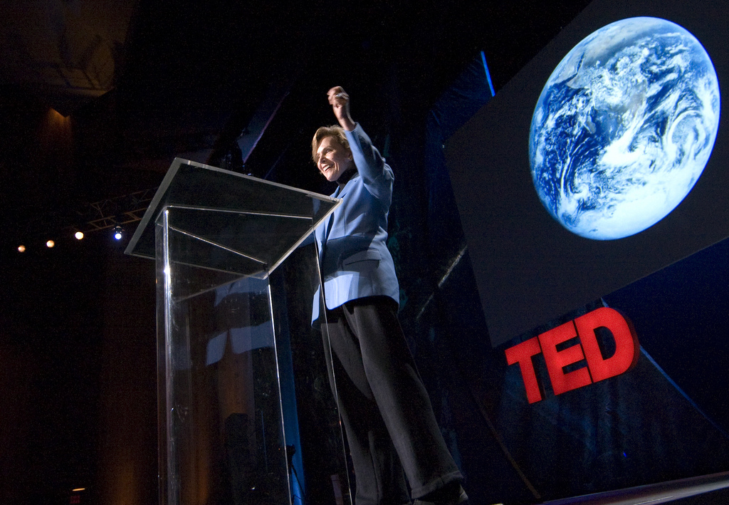 Sylvia Earle shares her TED Prize wish in 2009. Photo: James Duncan Davidson