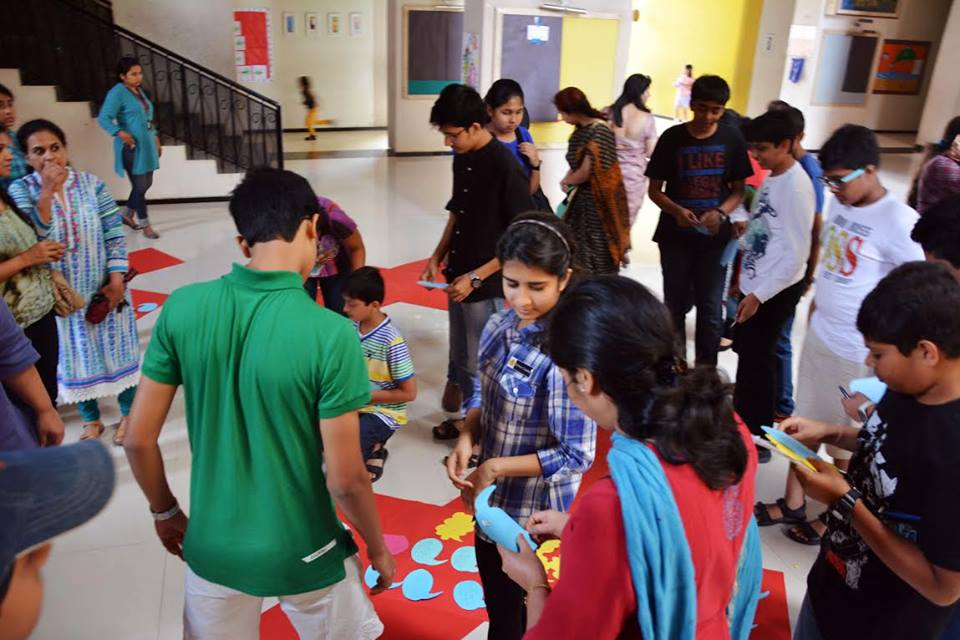 "In a group activity for a TEDxPune salon at The Orchard School, students wrote responses to ""What inspires you?"" on to colored paper. Organizer Abhishek Suryawanshi plans to organize a salon in a local prison next. Photo: Courtesy of TEDxPune"