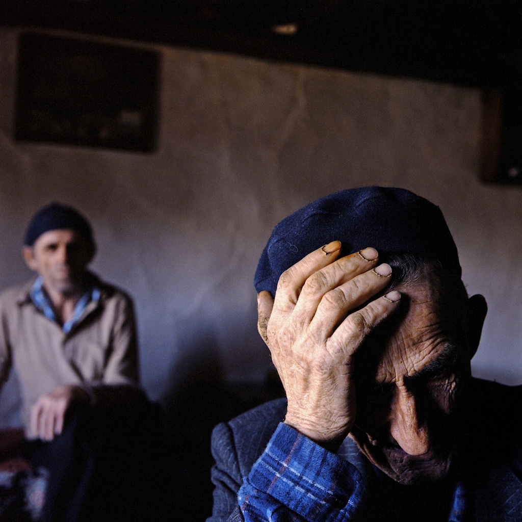 Men in the remote village of Lukomir, Bosnia.  Founded in the 12th century, the village consists primarily of two families: Comor and Maslesa. To avoid incest, men marry women from the surrounding villages. From Troubled Islam: short stories from troubled societies. Photo: Ziyah Gafić