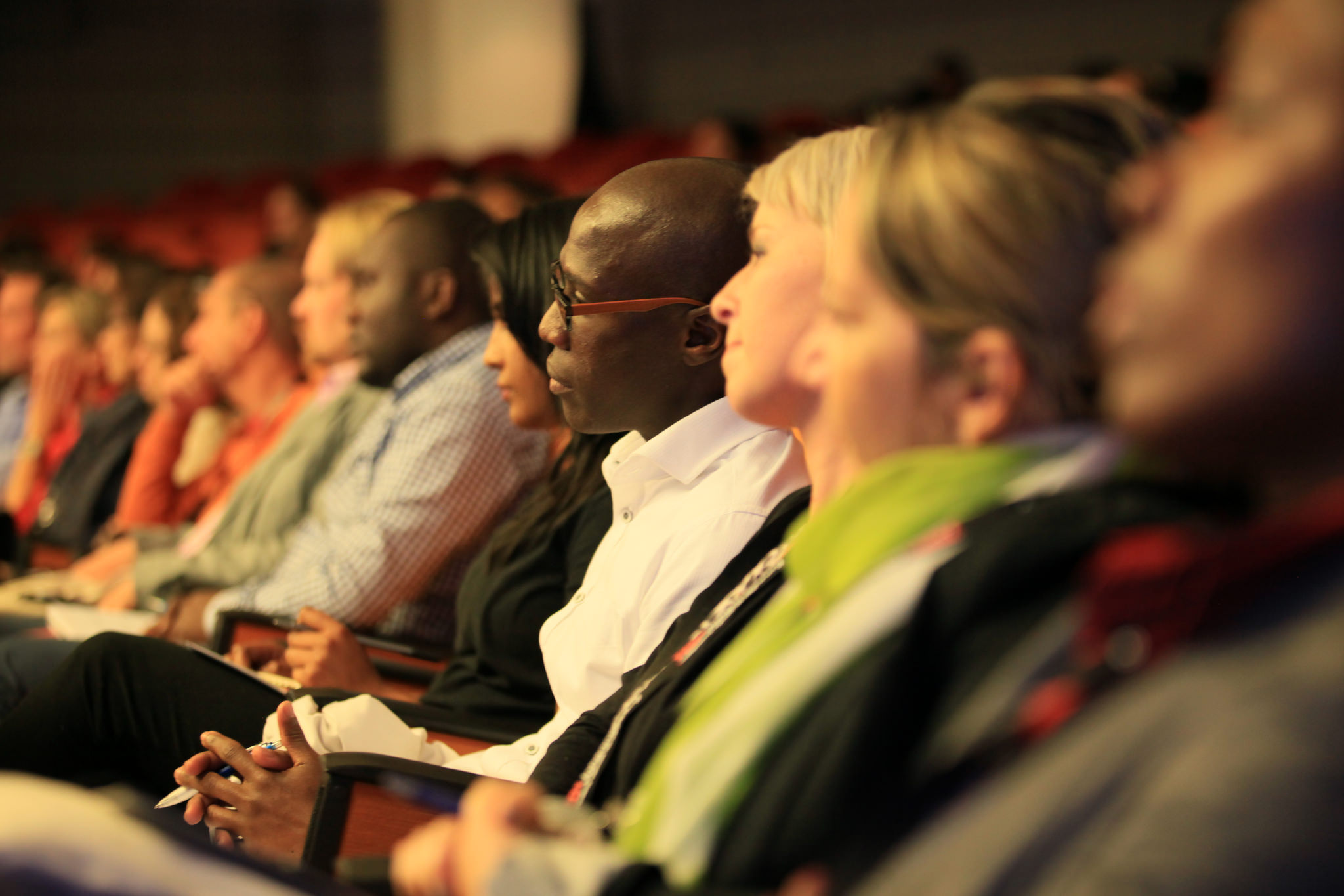 The audience at TEDxJohannesburg sites rapt during a talk. Photo: TEDxJoahnnesburg