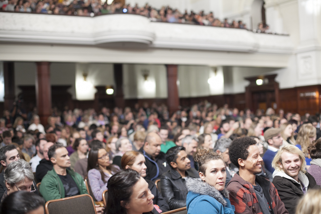 The audience at TEDxCapeTown, which took place in the beautiful Cape Town City Hall. Photo: Courtesy of TEDxCapeTown