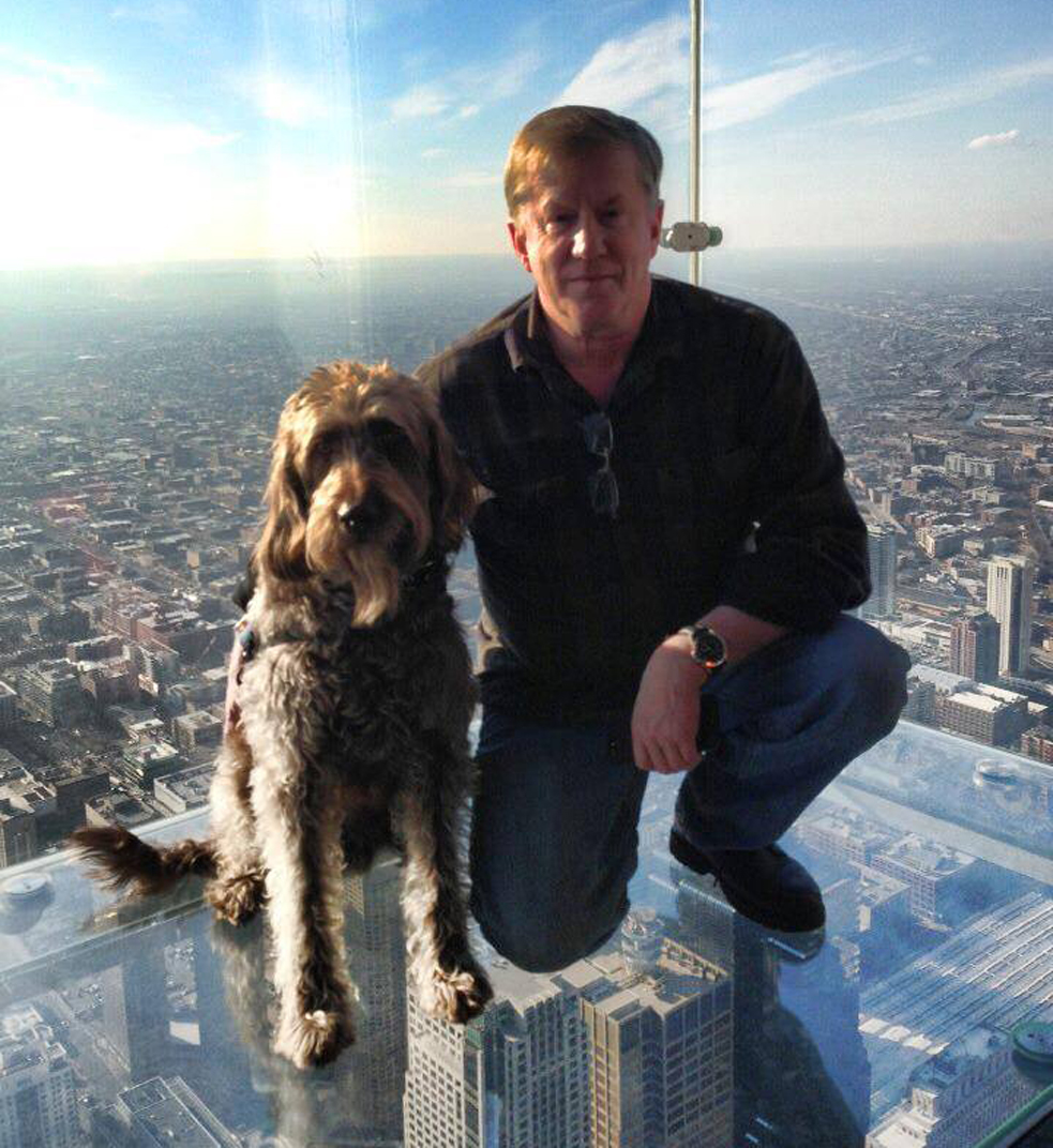 Both Hodge and Gander are scared of heights—but together they face their fear. Photo: Courtesy of Lon Hodge