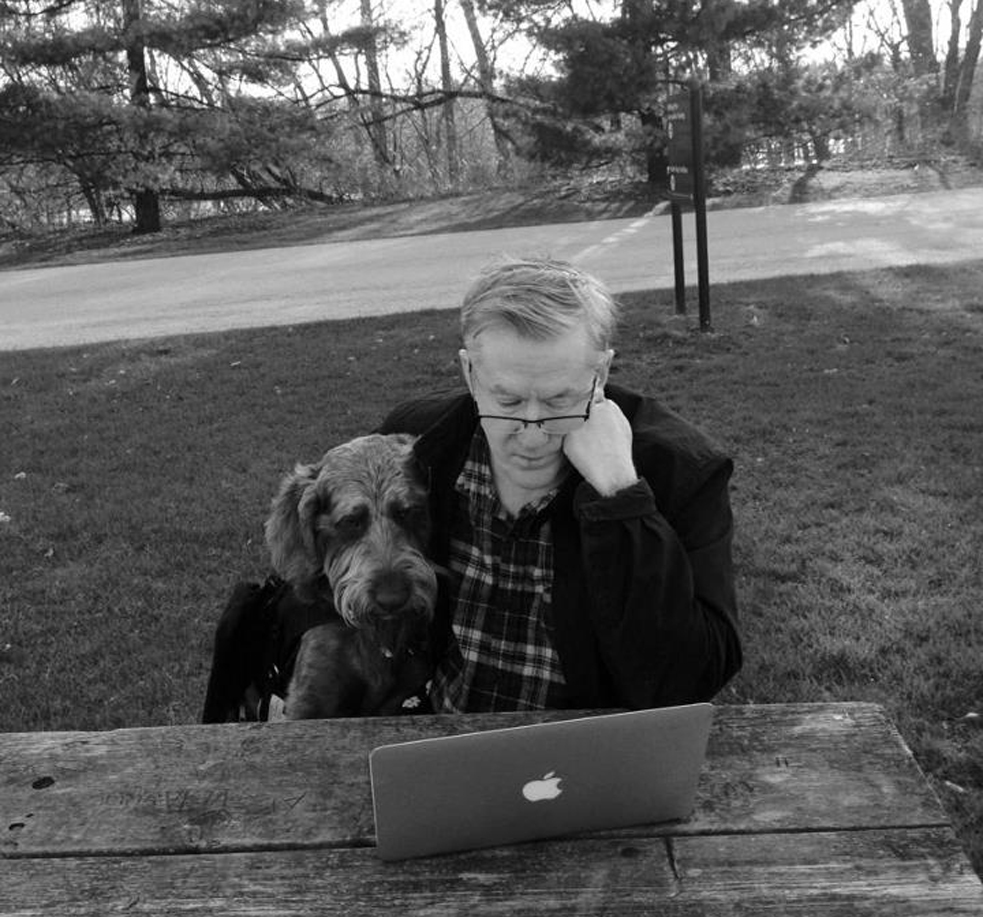Hodge and Gander, at work on their book, Fetch.