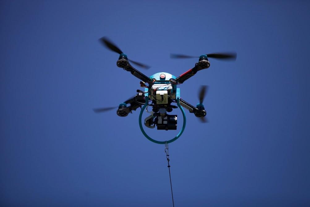 The Fotokite aloft. Photo: Milan Rohrer/Fotokite