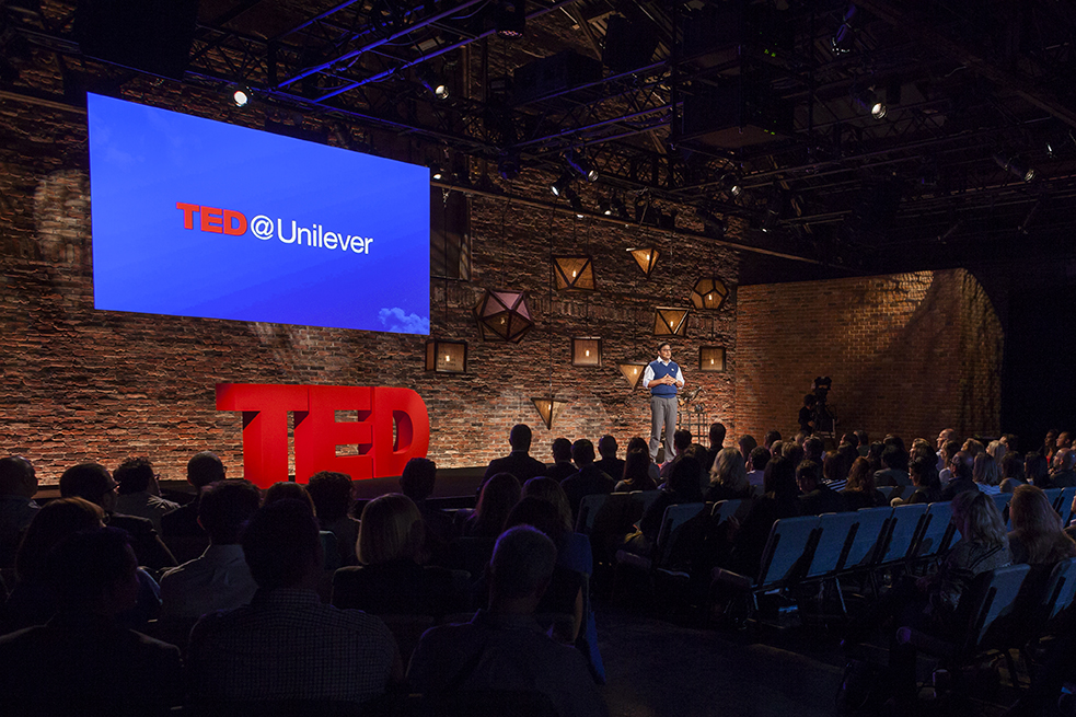 The stage at TED@Unilever. Photo: Ryan Lash