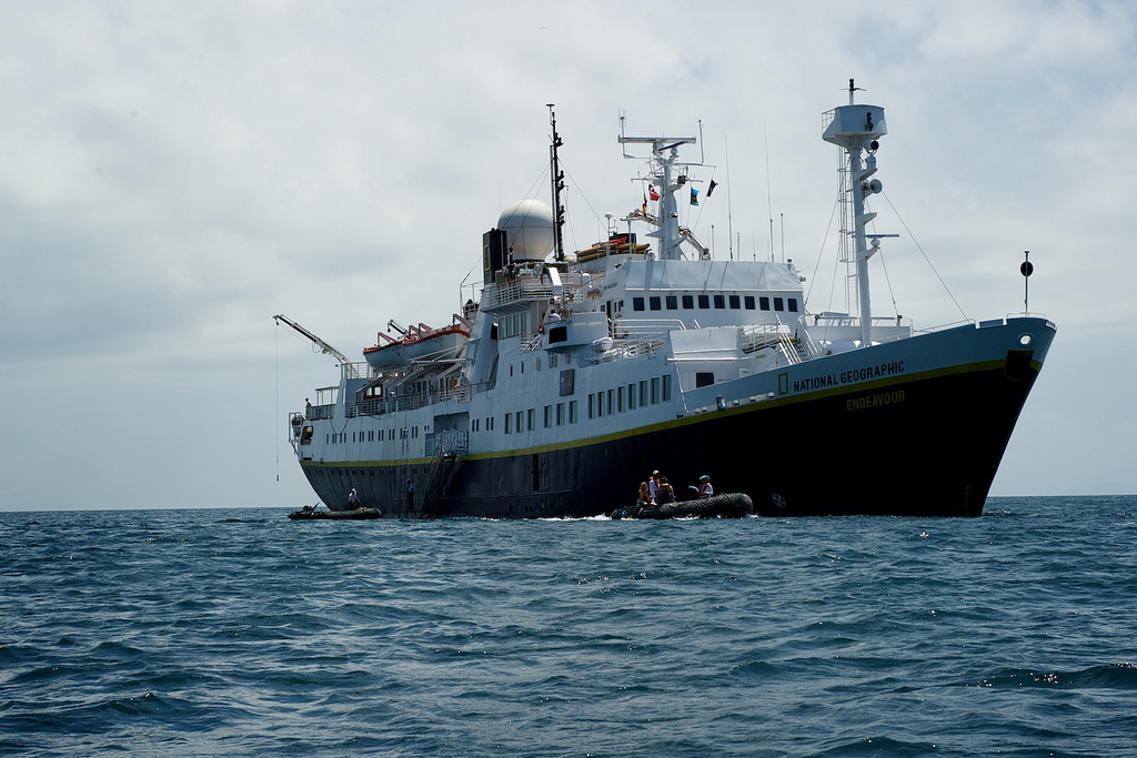 The National Geographic Endeavor hosted the Mission Blue Voyage int he Galapagos. Photo: James Duncan Davidson/TED