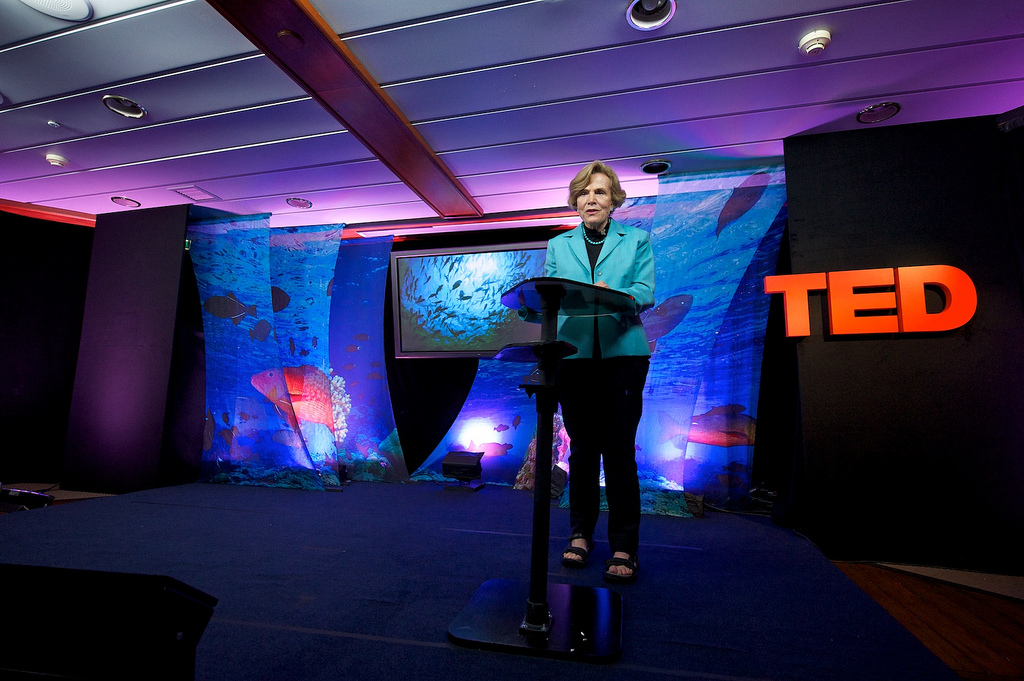 Sylvia Earle hosted TED sessions focused on the health of the oceans aboard the Mission Blue Voyage in the Galapagos. Photo: James Duncan Davidson/TED