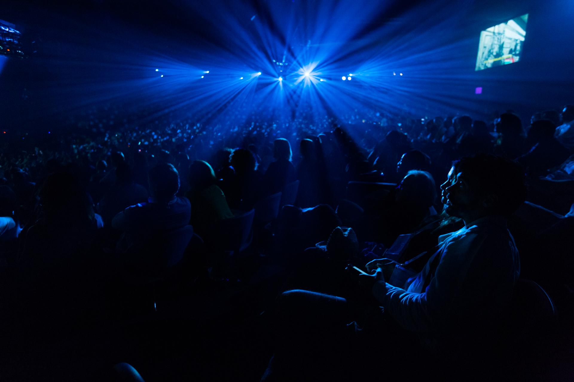 The darkened theater. Photo: Ryan Lash