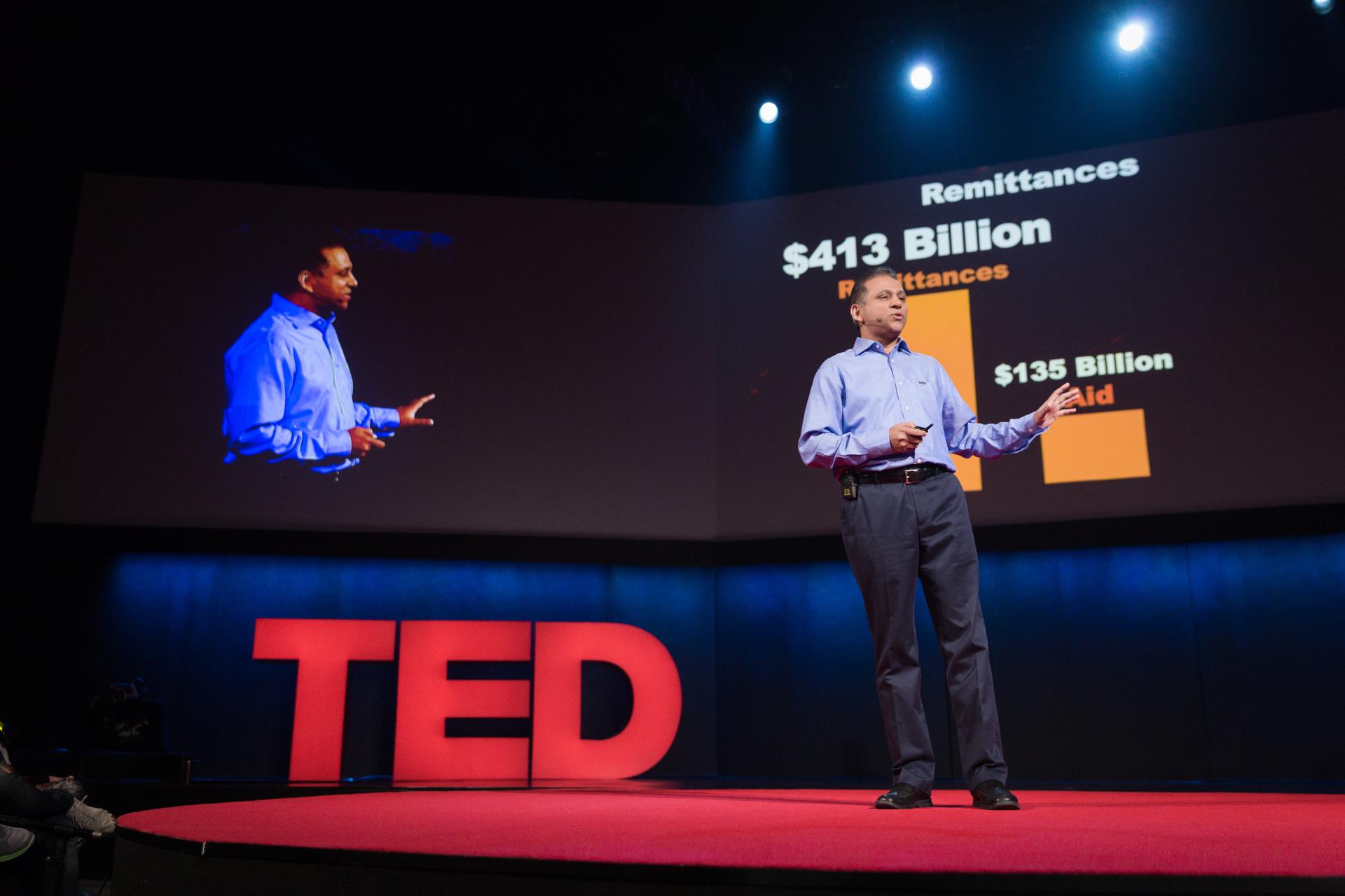 Dilip Ratha speaking at TEDGlobal 2014. Photo: James Duncan Davidson/TED