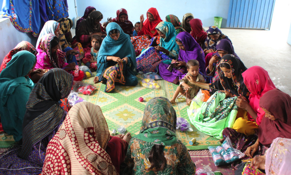 An embroidery circle. Photo: Courtesy of Sughar Empowerment Center