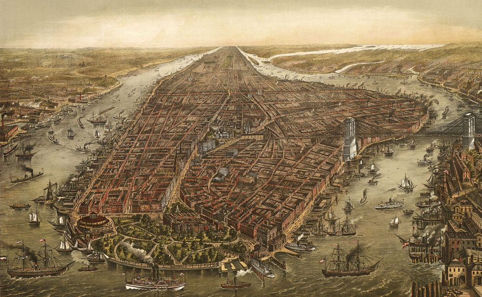 New York, . Here's one of my favorite images of it, Image: Wikipedia/George Schlegel lithographers